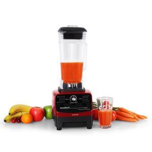 Klarstein Herakles 3G Powermixer, 1500 W, 2 liter, zöld smoothie, BPA nélkül, asztali mixer, piros