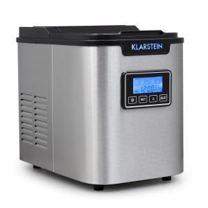 Klarstein ICE6 Icemeister, jégkocka készítő gép, 12 kg/24 óra, rozsdamentes acél, fekete
