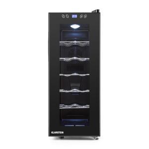 Klarstein Vinamora borhűtő, 35 liter, 12 üveg, LED, érintésvezérlés, fekete