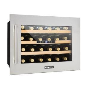 Klarstein Vinsider 24D, beépített borhűtő, 2 hűtőzóna, 24 palack, nemesacél