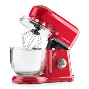 Klarstein Allegra Rossa konyhai mixer, 800 W, 3 l, üvegtál, piros