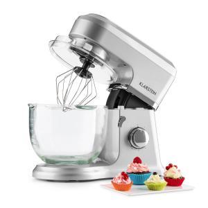 Klarstein Allegra Argente konyhai mixer, 800 W, 3 l, üvegtál, ezüst