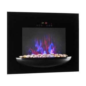 Feuerschale, elektromos fali kandalló, 1800 W, valósághű lángok, díszkövek, fekete