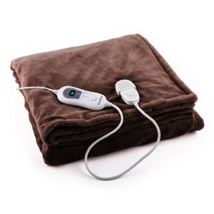 Sherlock XXL melegítő takaró, 120 W, mosható, 200x180 cm, mikroplüss, barna
