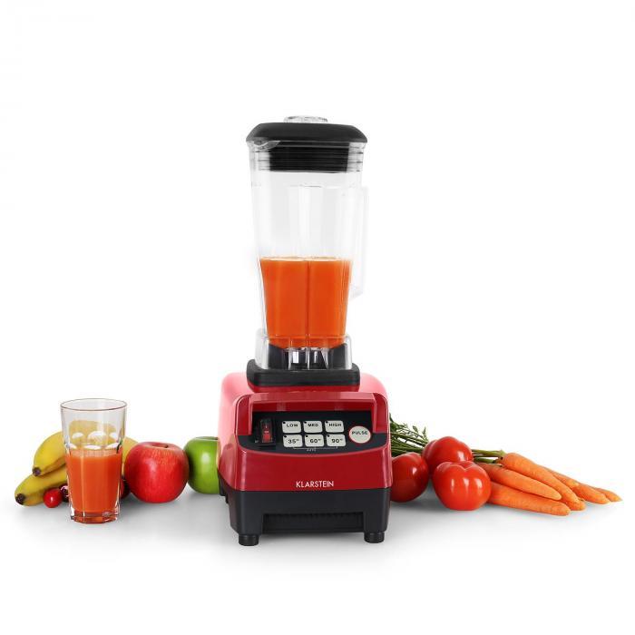 Herakles 5G asztali mixer, 1500 W, 2 liter, zöld smoothie, BPA mentes, piros