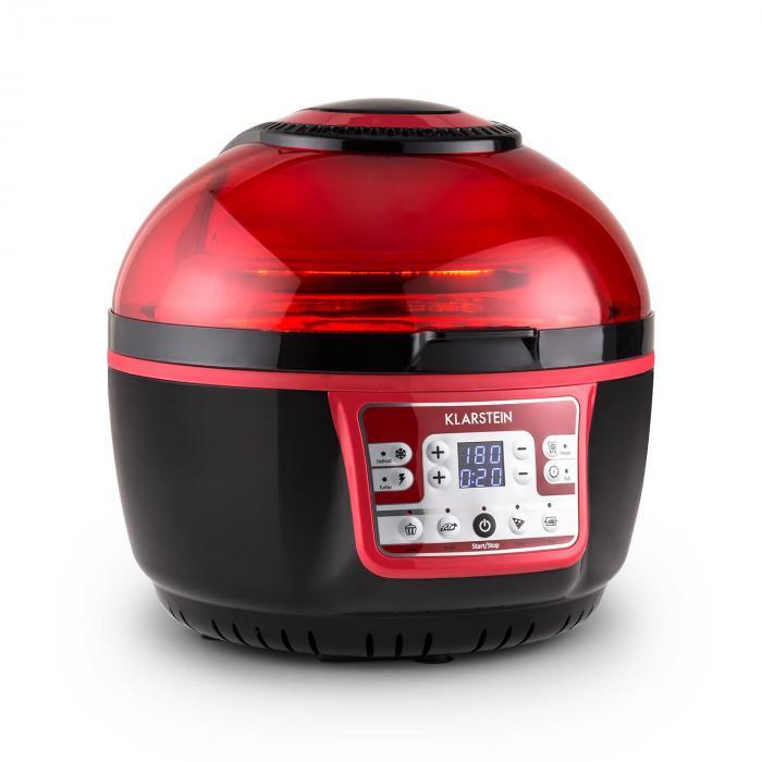 VitAir Turbo, 1400 W, 9 l, meleglevegős fritőz, grillezés, sütés, piros-fekete
