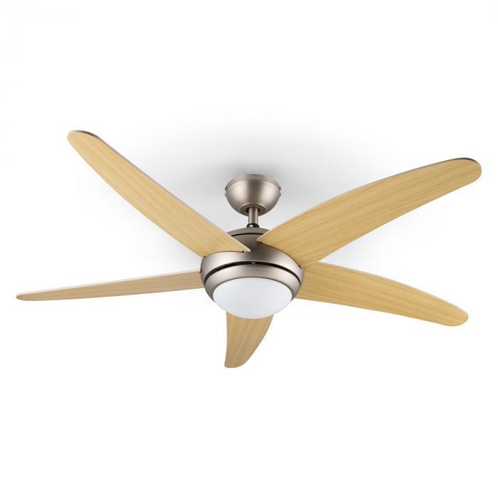 Bolero, 55W, mennyezeti ventilátor lámpával, 134cm, juharfa karok, távirányító
