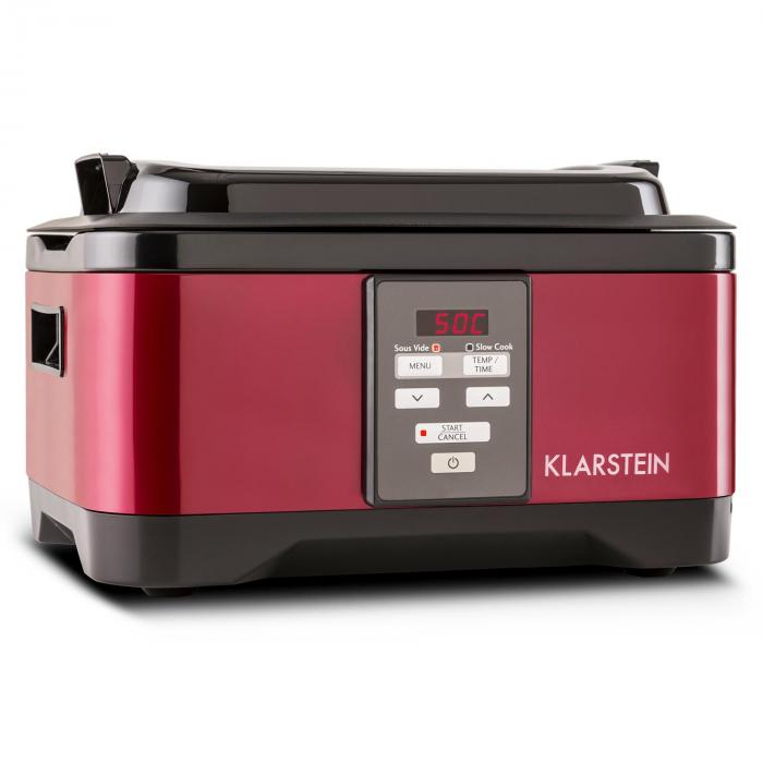 Tastemaker Sous-vide Garer lassú főző, 550 W, 6 l, rozsdamentes acél, piros