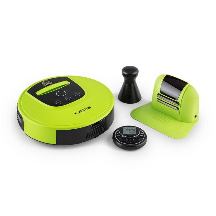 Cleanhero, robot porszívó, távvezérlés, zöld