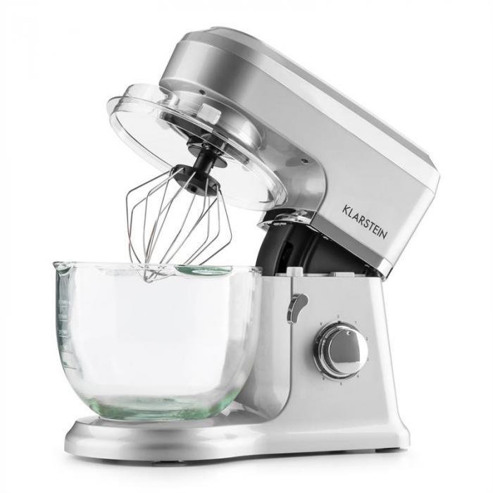 Allegra Argente konyhai mixer, 800 W, 3 l, üvegtál, ezüst