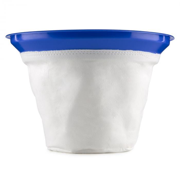 Szűrőzsák, tartozék száraz-nedves porszívóhoz, textil filter tasak, Ø35cm